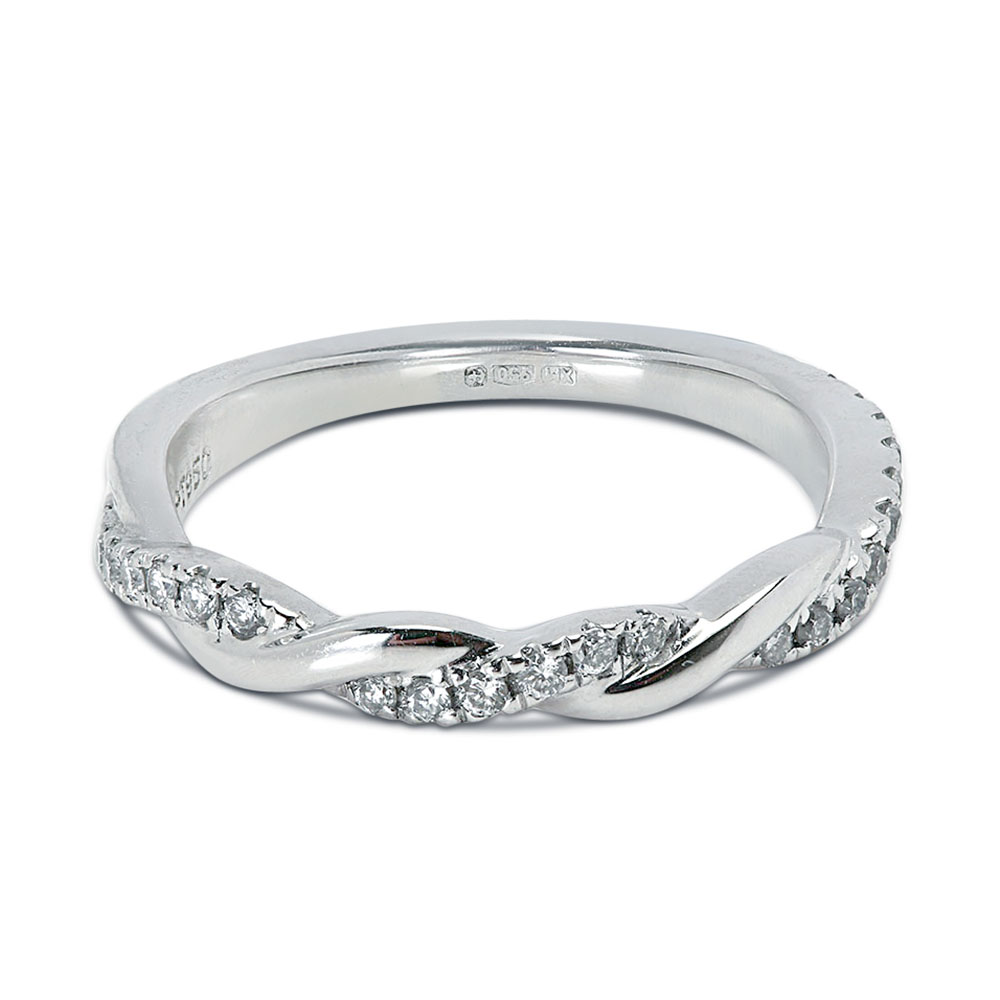 0.20ct Braided Micro Setting Diamond Wedding Ring