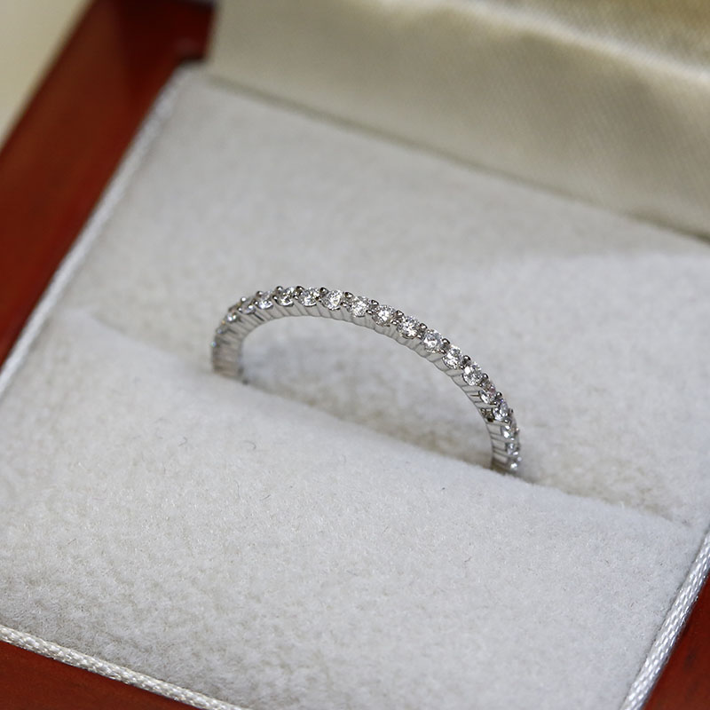 1.2mm Claw Setting Diamond Eternity Ring