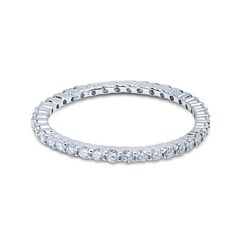 1.2mm Claw Setting Diamond Eternity Ring
