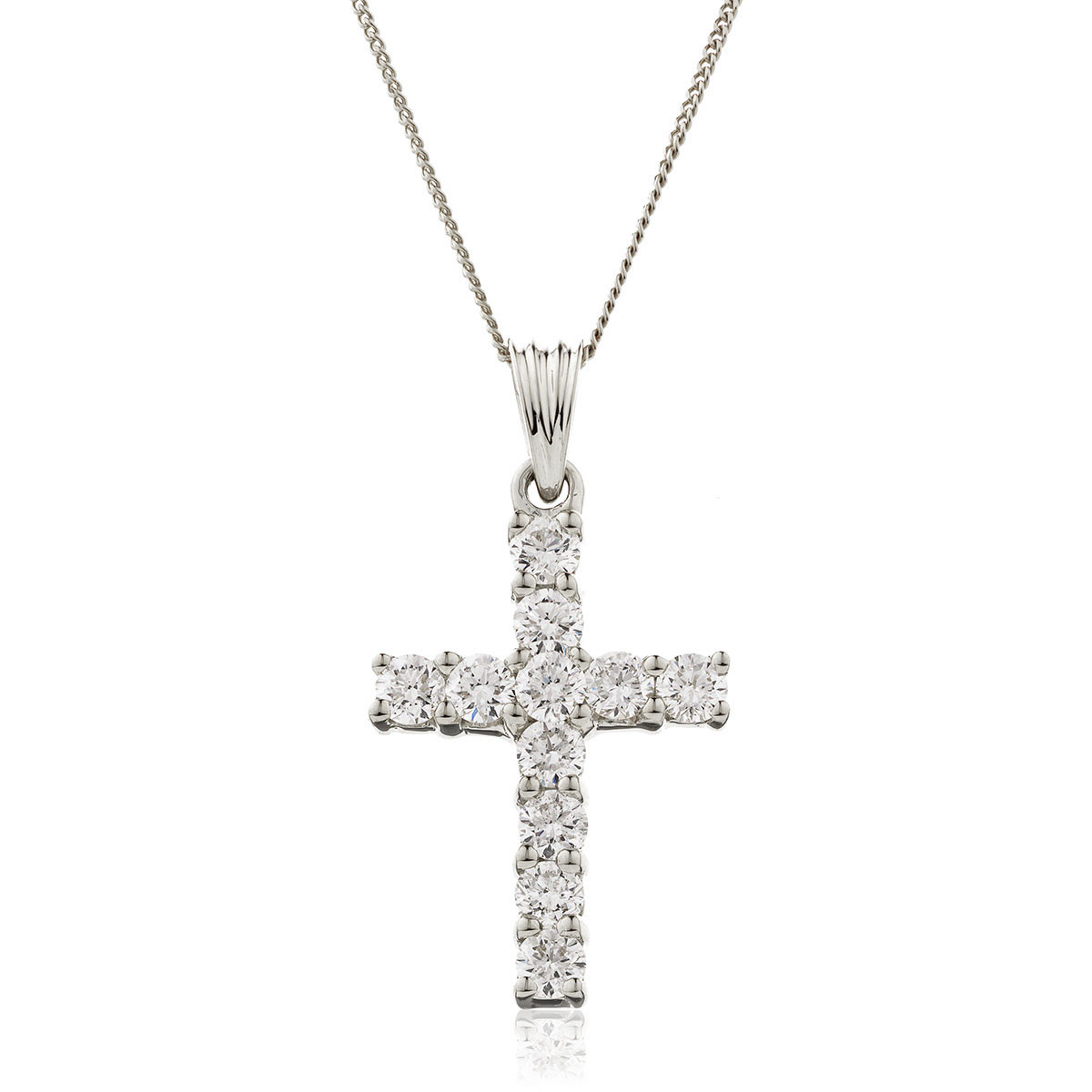 1ct Diamond Cross Pendant