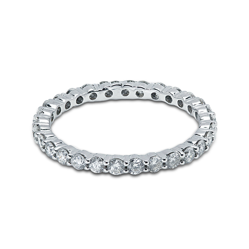 2mm Claw Setting Full Diamond Eternity Ring