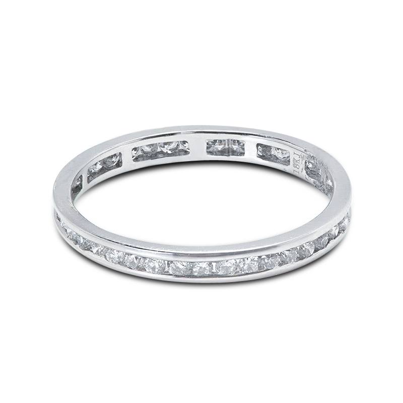 2.2mm Channel Setting Diamond Eternity Ring