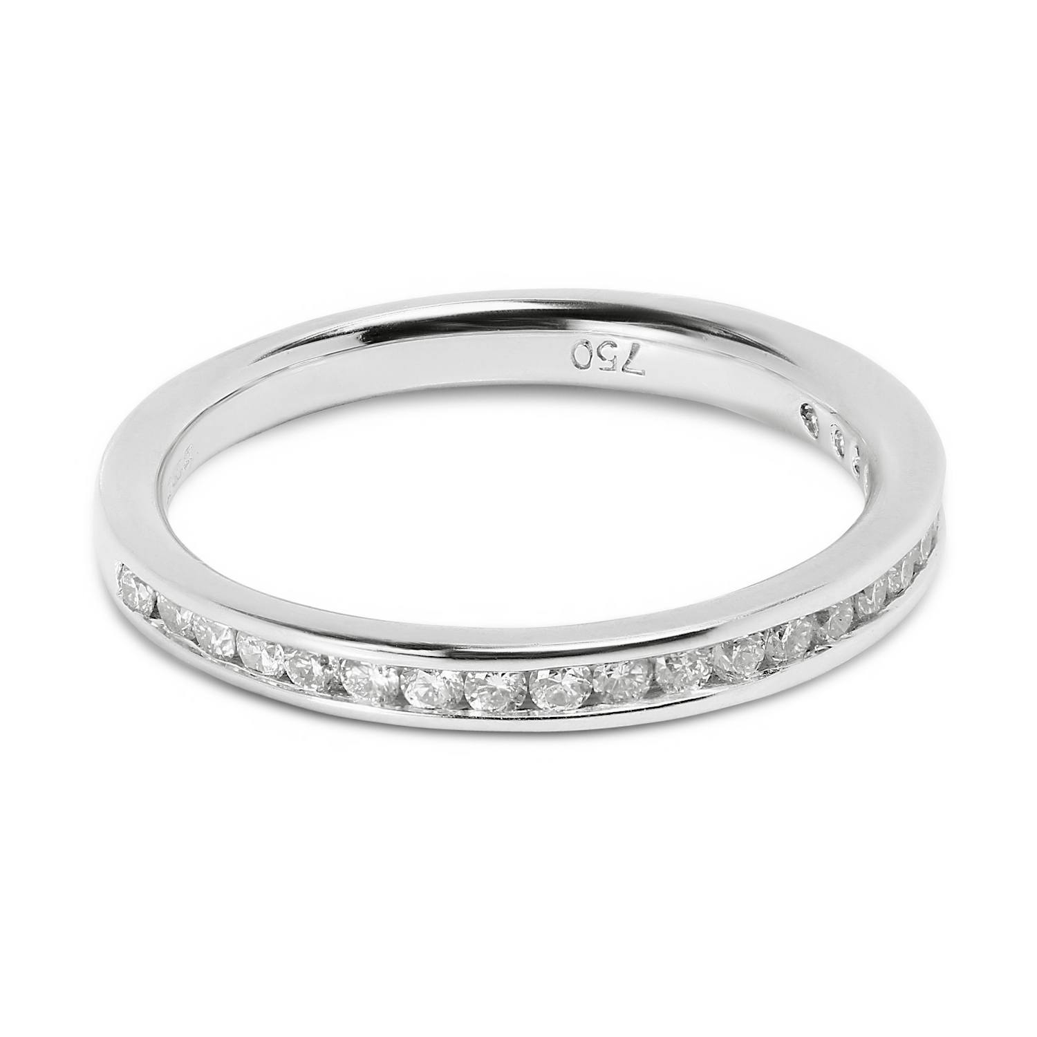Classic 2.2mm Channel Setting Half Band Diamond Wedding Ring