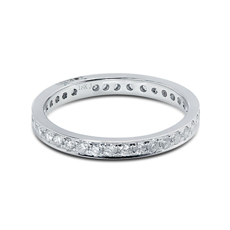 2.3mm Pave Setting Diamond Eternity Ring