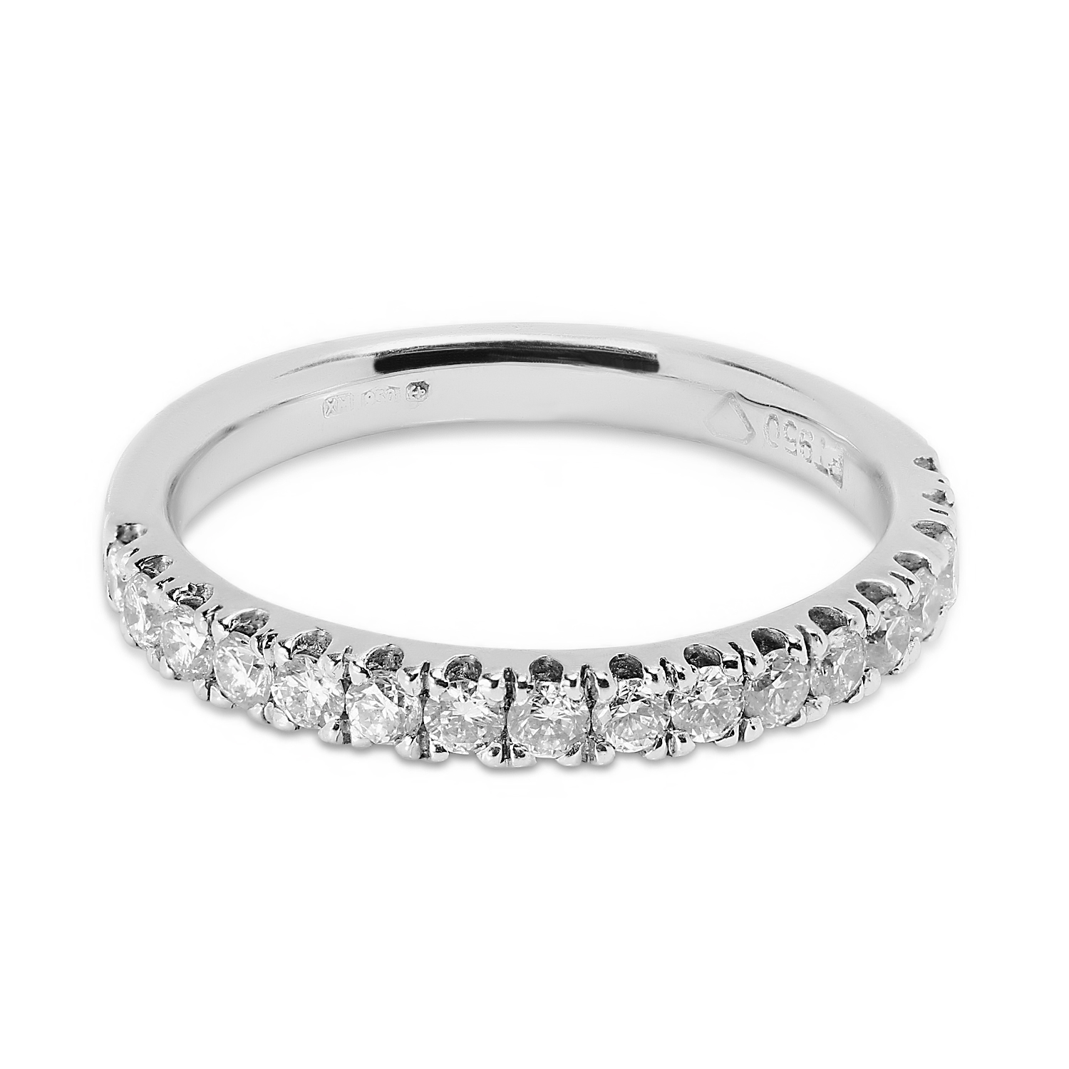 Classic 2.5mm Micro Setting Half Band Diamond Wedding Ring