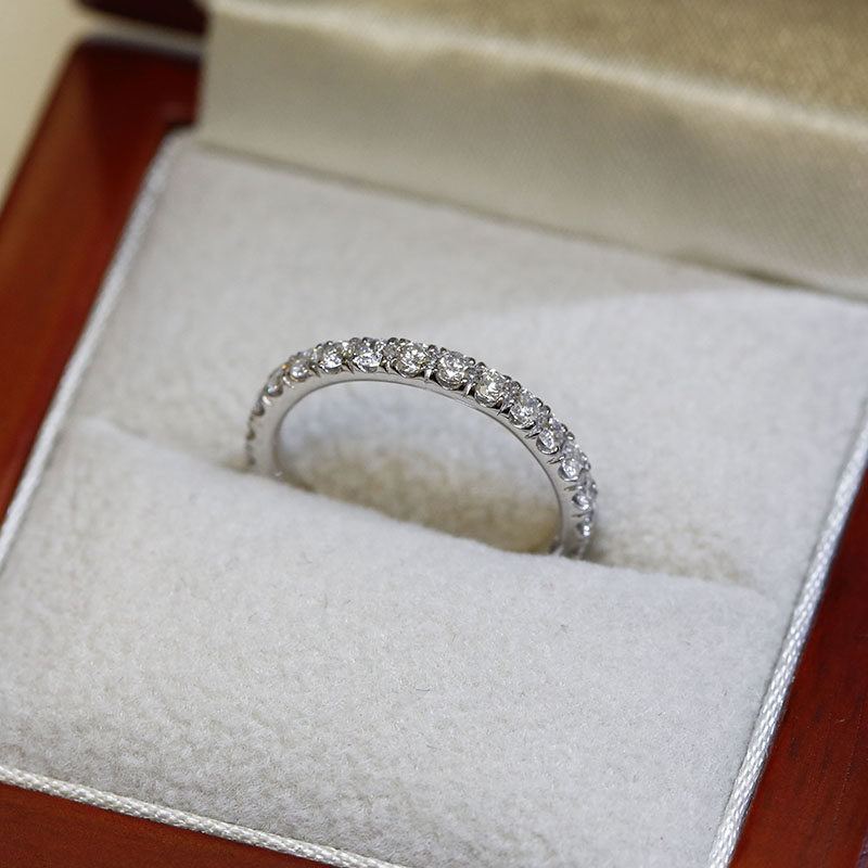 2.5mm Micro Setting Diamond Eternity Ring