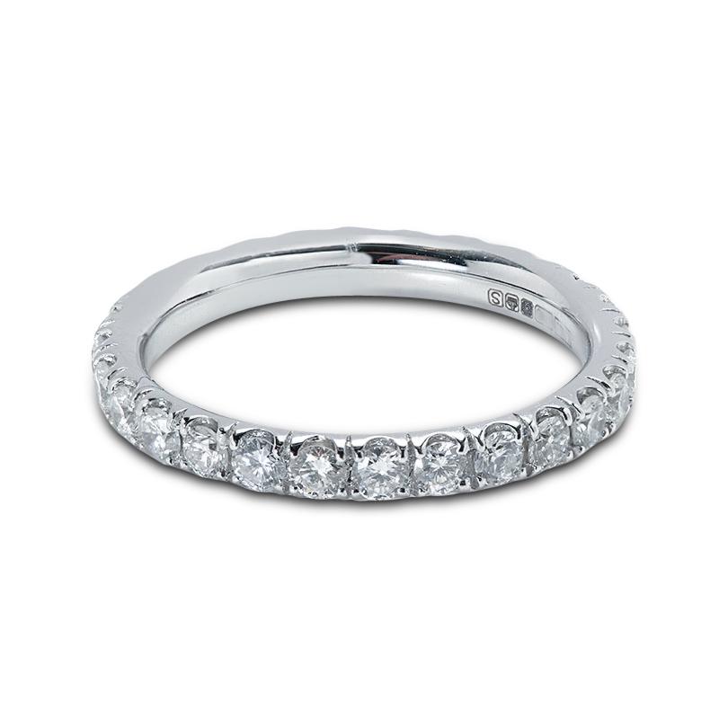 2.5mm Micro Setting Diamond Eternity Ring