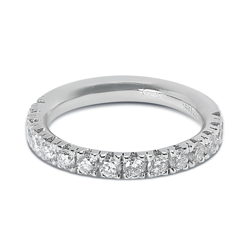Classic 2.7mm Micro Setting Half Band Diamond Wedding Ring