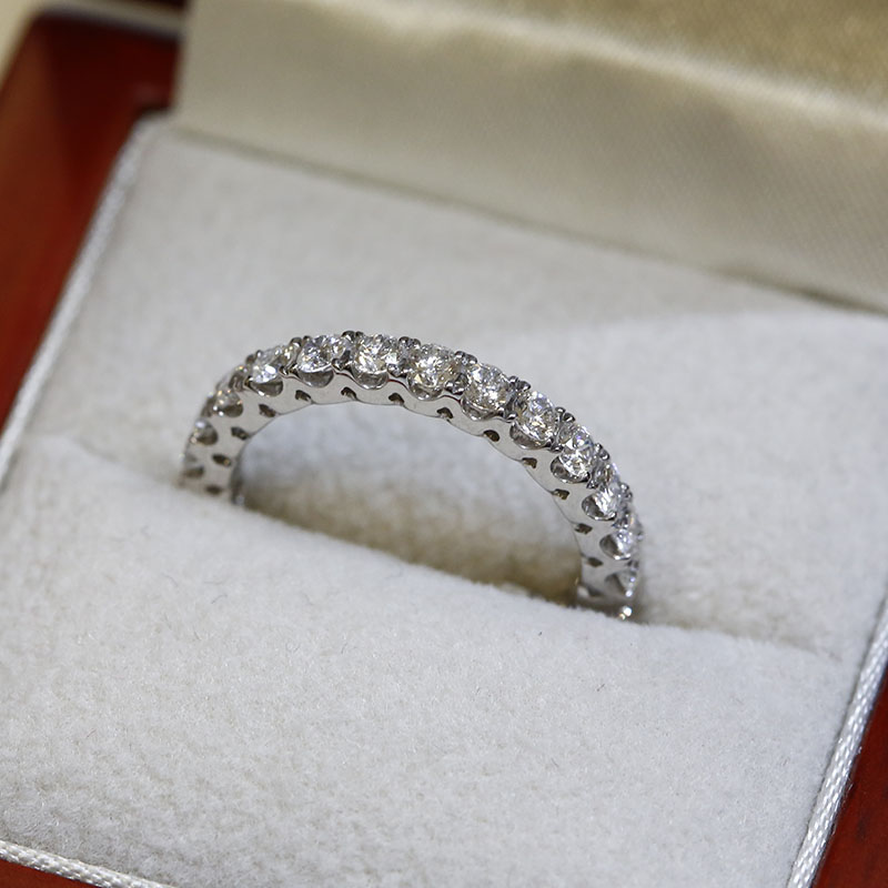 2.7mm Micro Setting Diamond Eternity Ring