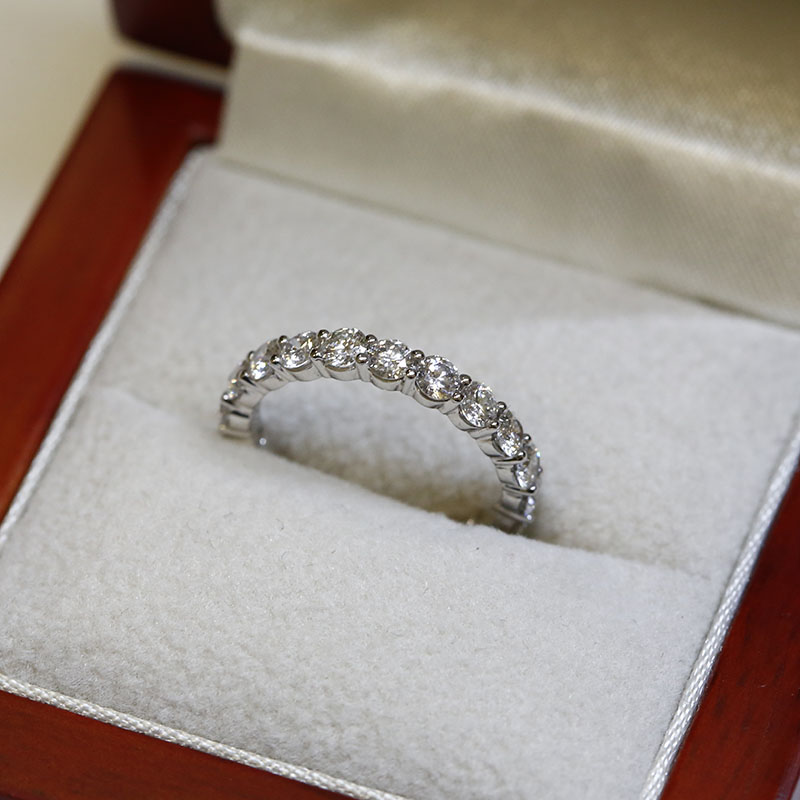 3mm Claw Setting Full Diamond Eternity Ring