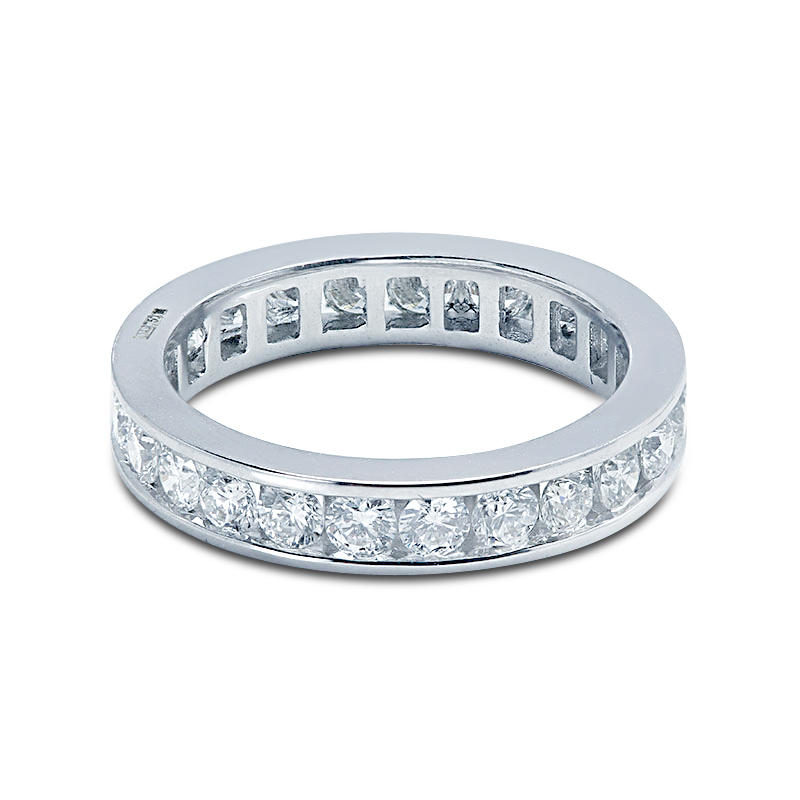 3.5mm Channel Setting Diamond Eternity Ring