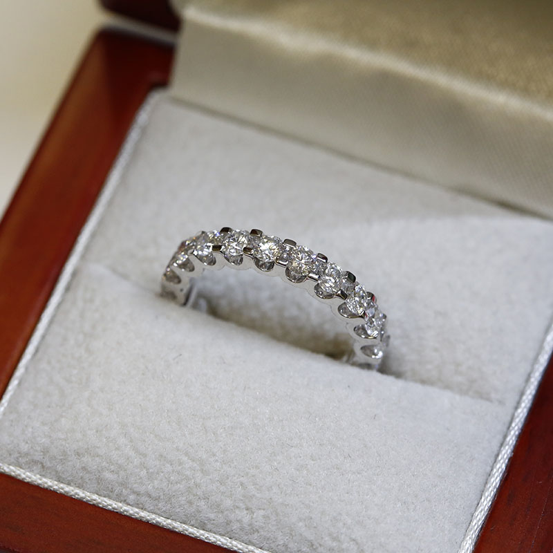 3mm Micro Setting Full Diamond Eternity Ring