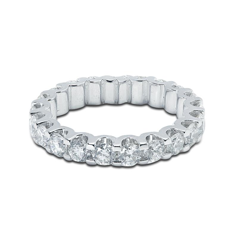 3mm Micro Setting Full Diamond Eternity Ring