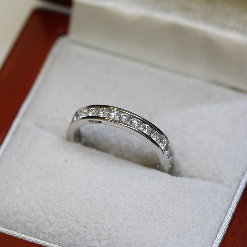 3mm Channel Setting Diamond Eternity Ring