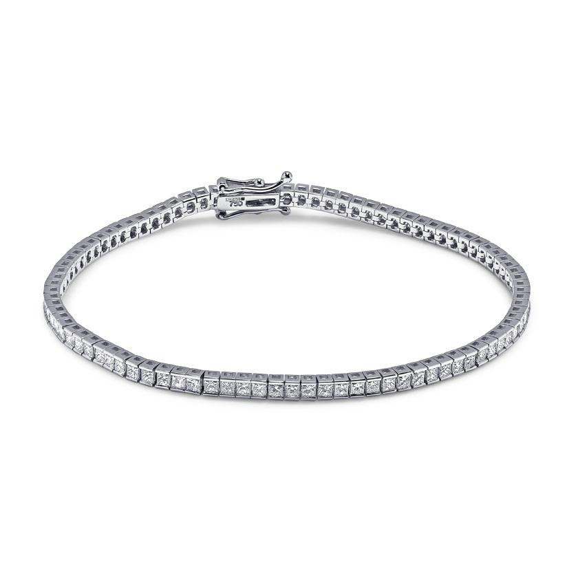 4 Carat Princess Cut Diamond Tennis Bracelet