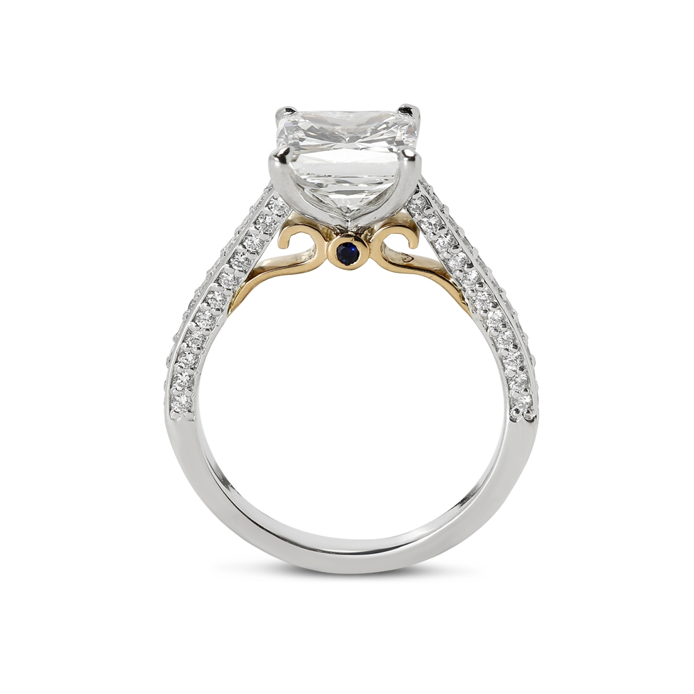 Lilian Design Cushion Diamond Engagement Ring