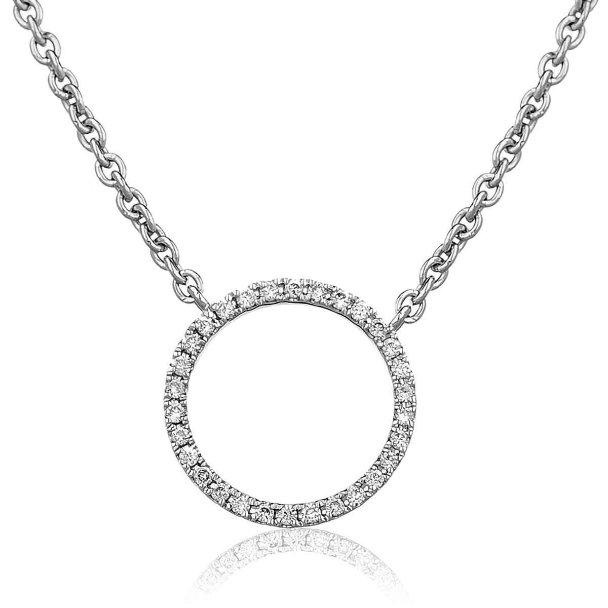 Fixed Micro Set Circle Necklace