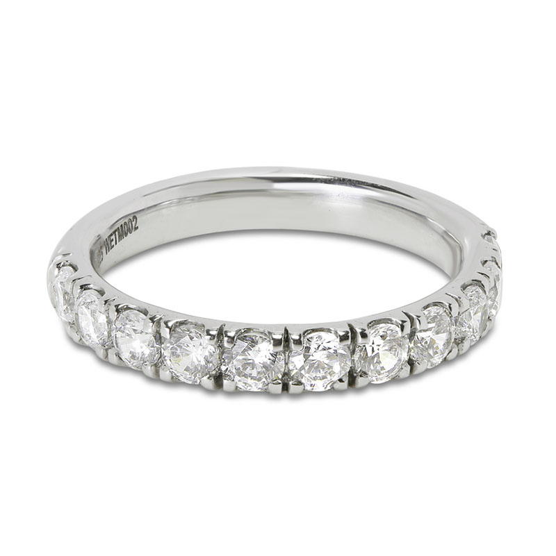 Classic 3mm Micro Setting Half Band Diamond Wedding Ring