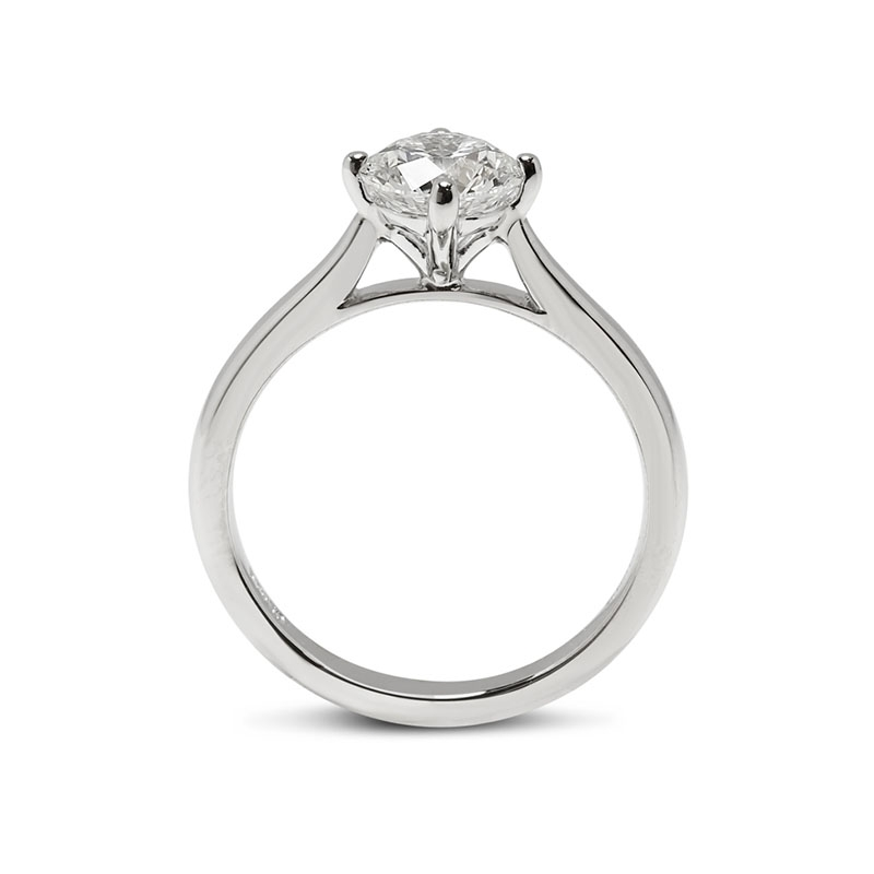Compass Solitaire 1ct E SI1 Lab Grown Diamond Engagement Ring
