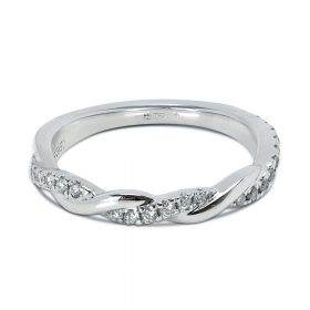 0.20ct Braided Pave Diamond Wedding Ring