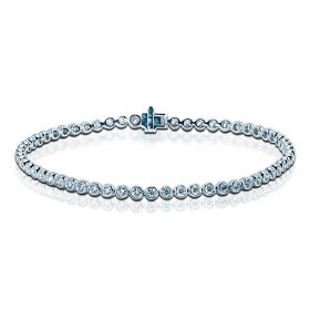 2 Carat Rub Over Diamond Tennis Bracelet