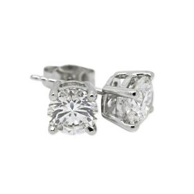 18kt White Gold Four Claw 0.70ct Total Diamond Earring Studs