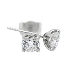 18kt White Gold Four Claw Twist 0.70ct Total Diamond Earring Studs