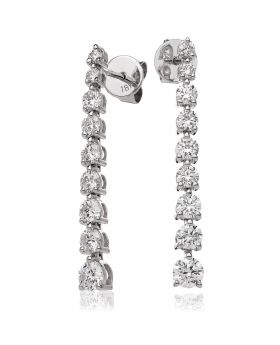 1.2ct 22mm Diamond Drop Earrings