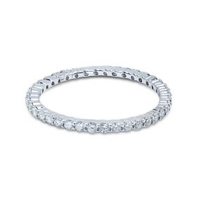 1.2mm Diamond Eternity Ring Claw Setting