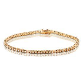 1 Carat Rose Gold Diamond Tennis Bracelet