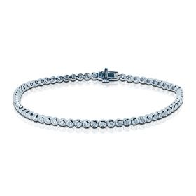 1 Carat Rub Over Diamond Tennis Bracelet