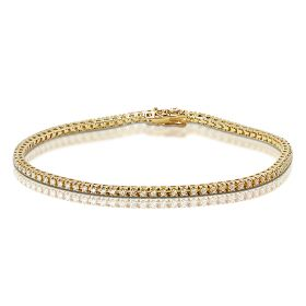 1 Carat Yellow Gold Diamond Tennis Bracelet
