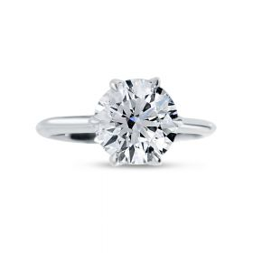 Six Tiger Claw Solitaire Diamond Engagement Ring