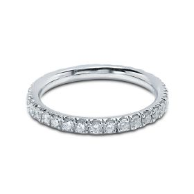 Diamond Eternity Ring Claw Set 2.3mm 0.70ct
