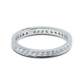 2.3mm Pave Setting Full Diamond Eternity Ring 0.50ct