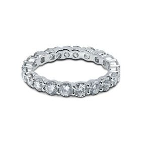 3mm Diamond Eternity Ring Claw Setting