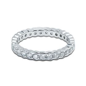 3mm Rubover Setting Full Diamond Eternity Ring 1.00ct