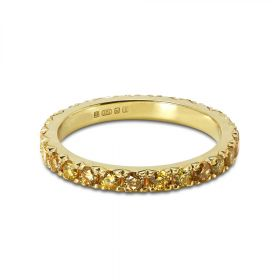 2mm Fancy Intense Yellow Diamond Eternity Ring