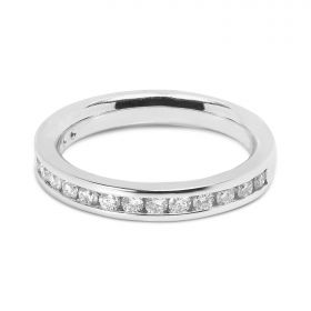 Classic 3mm Channel Setting Half Band Diamond Wedding Ring