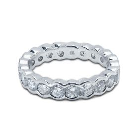 4mm Rubover Setting Full Diamond Eternity Ring 2.00ct