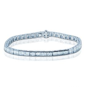 5 Carat Baguette Cut Diamond Tennis Bracelet
