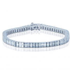 7 Carat Baguette Cut Diamond Tennis Bracelet