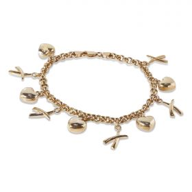 9ct Yellow Gold Charm Bracelet 10.2gm
