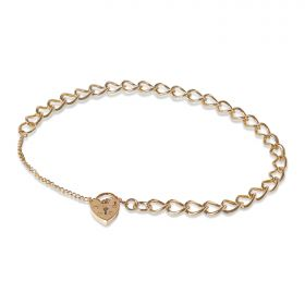 9ct Yellow Gold Charm Bracelet 7.2gm