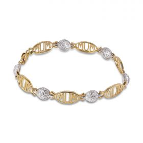 9ct Gold Mum Bracelet 10gm