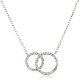 Fixed Double Circle Necklace