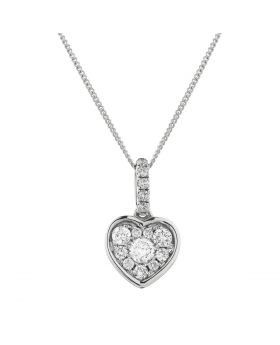 Heart Pave Diamond Necklace