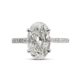 Blake Lively Oval cut Diamond Engagement Ring Top View