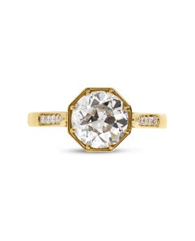 Vintage Diamond Engagement Ring Top View