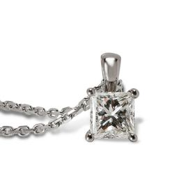 Princess Cut Diamond Solitaire Pendant